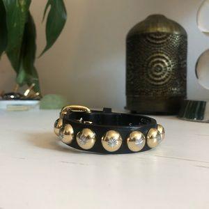 Ronald Pineau Jewelry - Ronald Pineau Nano Studded Bracelet Black/Gold - S